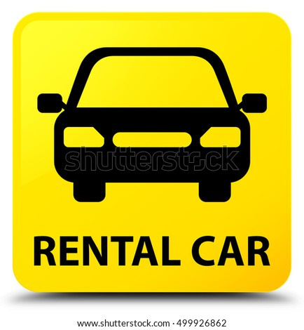 Rental Car Yellow Square Button Stock Illustration 526159072