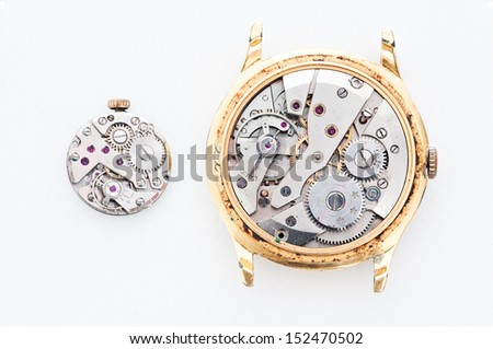 Repair and restoration of watches - stock photo