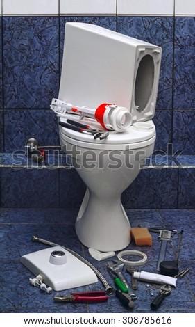 repair broken toilet