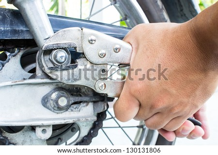 Repairing Motorcycles - stock photo