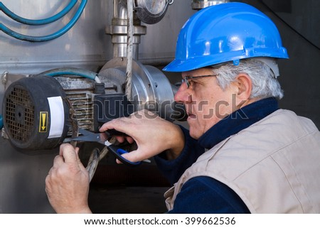 repairman during maintenance work