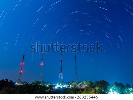 Repeater stations Located on a mountain in Thailand - stock photo