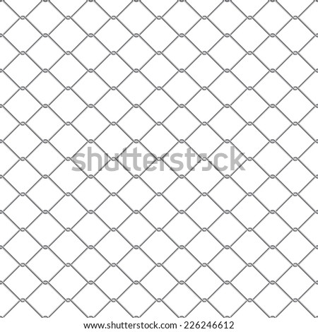 Repeating chain link fence. Tileable wallpaper that repeats left, right, up and down  - stock photo