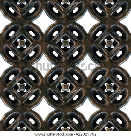 Repeating forged metal lattice  background