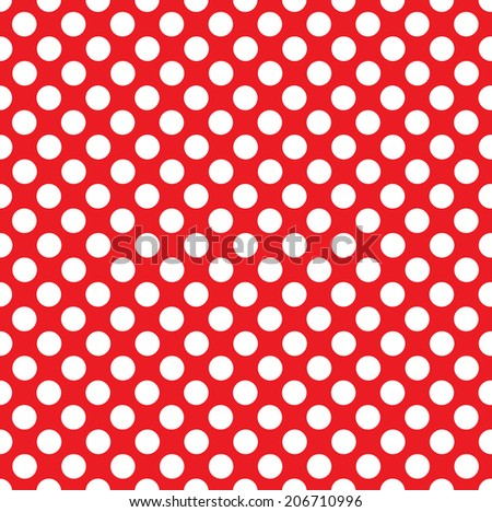 Repeating Polka Dot Pattern - traditional White Dots on Black - stock photo