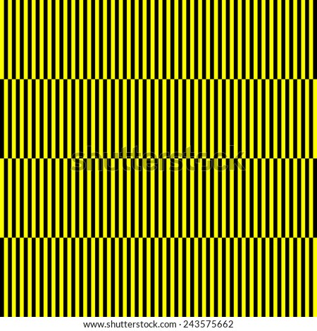 repeating staggered stripped background - yellow and black  - stock photo