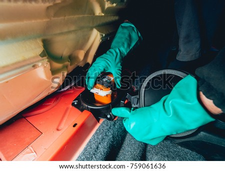 stock photo replacing fuses in the fuse box of the car car repair service station 759061636 car fuse stock images, royalty free images & vectors shutterstock replacing fuses in fuse box at gsmx.co