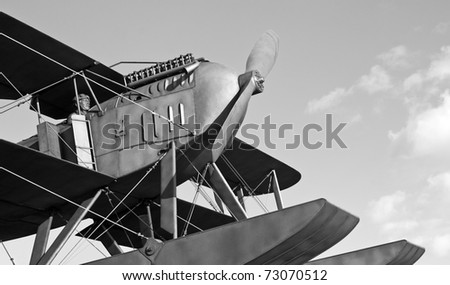 Replica of the seaplane that made the first crossing of the atlantic ocean south - stock photo