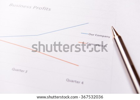 Report of success business profits and pen.