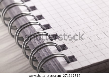 Report, Spiral Notebook, Instruction Manual. - stock photo