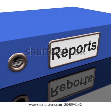 Reports Report Meaning Correspondence Data And Analysis