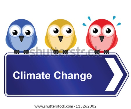 Representation of climate change warming the planet and the consequences on wildlife