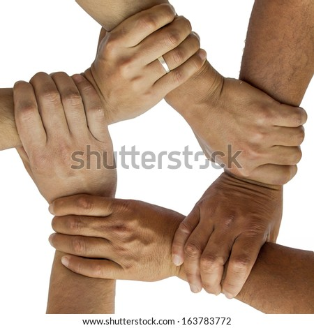 representing the diversity of many hands - stock photo