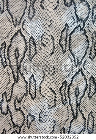 reptile snake texture closeup, fashion zigzag snakeskin details - stock photo