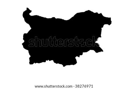Republic of Bulgaria - white background - stock photo