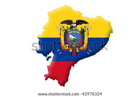 Republic of Ecuador - stock photo