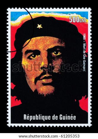 REPUBLIC OF GUINEA - CIRCA 2000: A postage stamp printed in Guinea showing Che Guevara, circa 2000 - stock photo