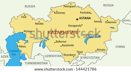 Republic of Kazakhstan - map