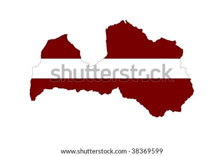 Republic of Latvia - stock photo