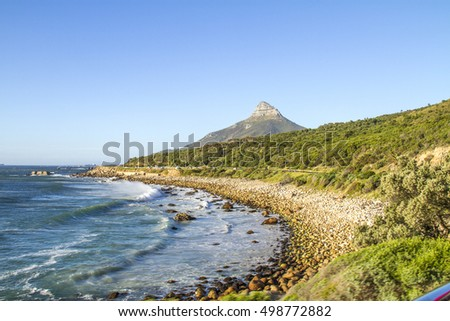 Republic of South Africa. Cape Town (Kaapstad). Panoramic view of the city and the Western slopes of Devil's Peak