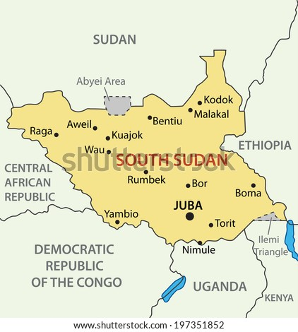 Republic of South Sudan - map