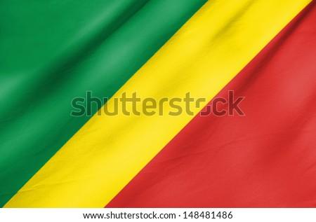 Republic of the Congo Flag - stock photo