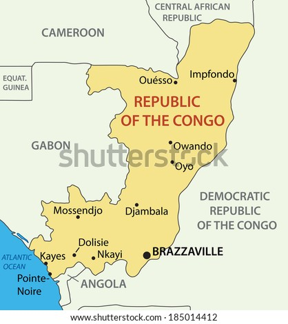 republic of congo map stock images royalty free images vectors