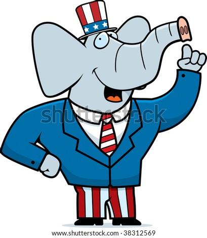 Republican Elephant - stock photo
