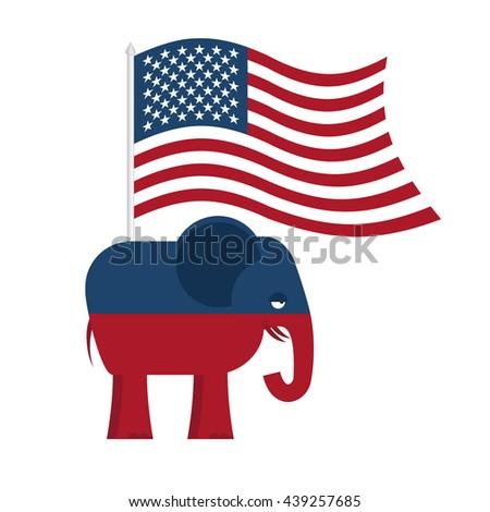 Republican Elephant Symbol Political Party America Stock