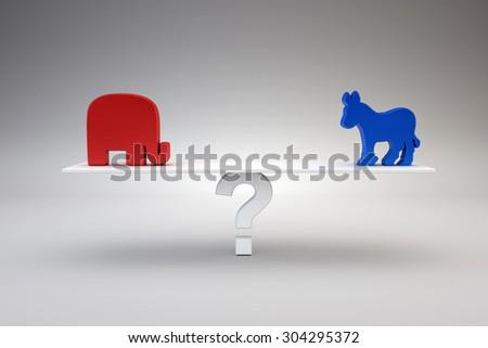 Republican or Democrat - stock photo