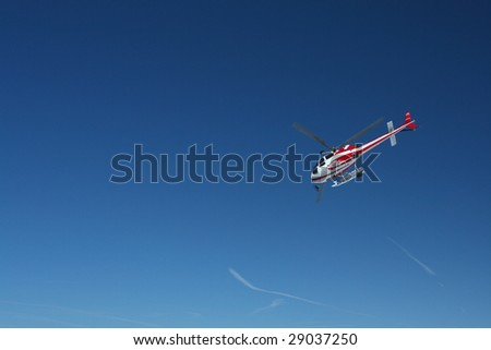 Rescue helicopter - stock photo