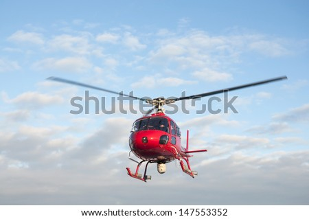 Rescue helicopter with thermal imaging camera