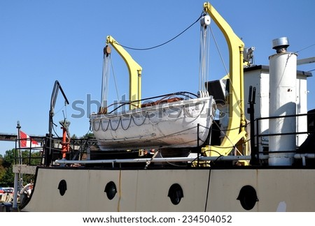 Rescue ship - stock photo