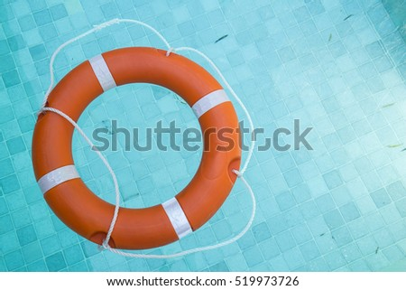 Rescue Swim Ring Float on Blue Water