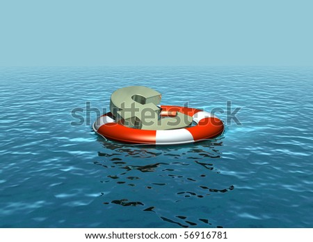 Rescuing the Pound - stock photo