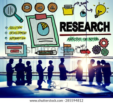 Research Exploration Facts Feedback Report Concept - stock photo