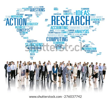 Research Study Report Response Result Action Concept - stock photo