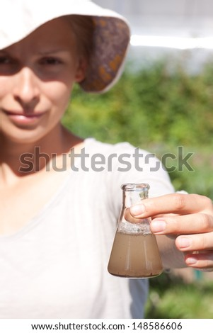 researcher testing the water quality