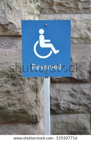Reserved for handicapped