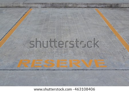 Reserved parking lot for mobility or disable people hilighten in yellow color