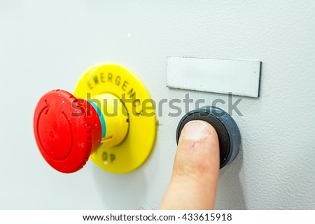 stock photo reset fuse box with emergency red shutdown panic button 433615918 reset fuse box emergency red shutdown stock photo 433615918 fuse box reset at gsmx.co