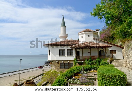Residence of the Romanian queen by the black sea in Balchik, Bulgaria - stock photo