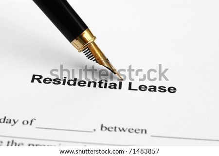 Residental lease - stock photo