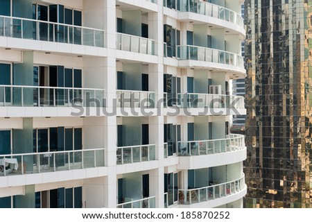 Residential apartments in Dubai, UAE. - stock photo