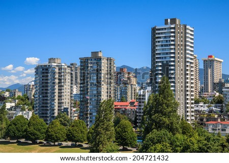 Residential area in Downtown Vancouver, British Columbia, Canada