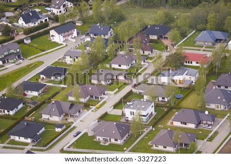 residential area seen from air