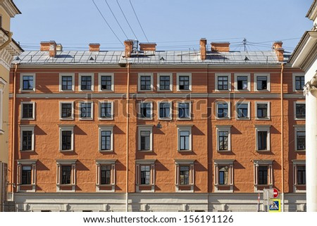 Residential Building Front - stock photo