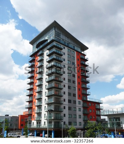 Residential building in London's Woolwich - stock photo