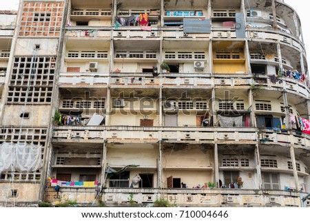 Residential building in Phnom Penh, the capital of Cambodia