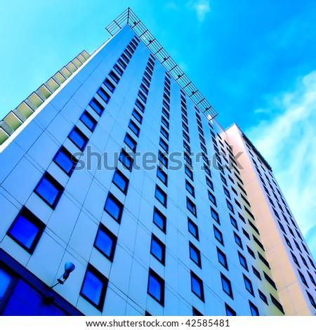 Residential building skyscraper - stock photo